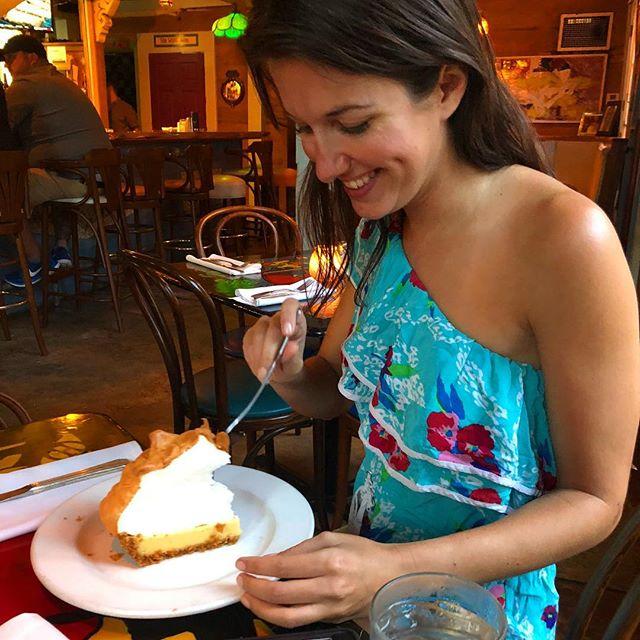Best key lime pie in town... #blueheaven #fourthmeal