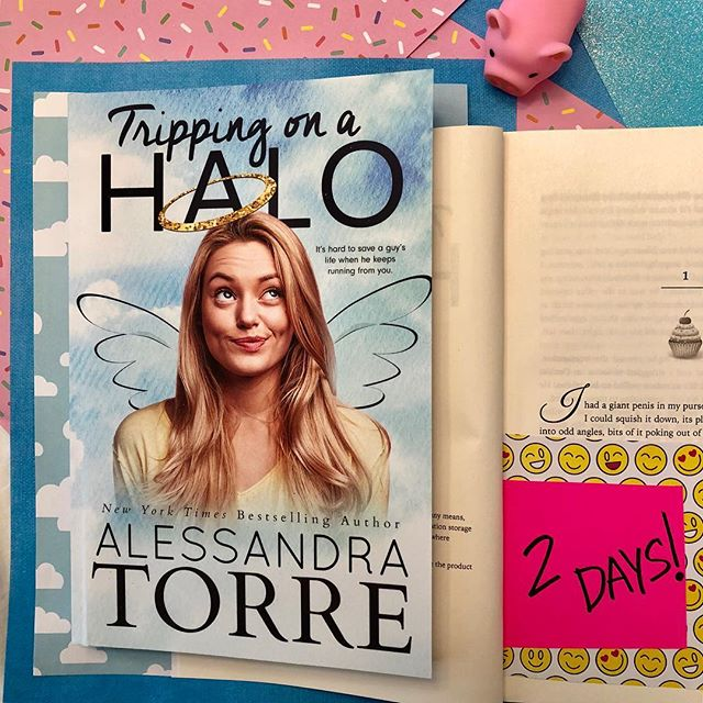 Less than 48 hours before Tripping on a Halo is here! If you read on Apple Books, Kobo, Nook or GooglePlay, then you can start reading it now! #romcom #romanticcomedy #bookstagram #comingsoon