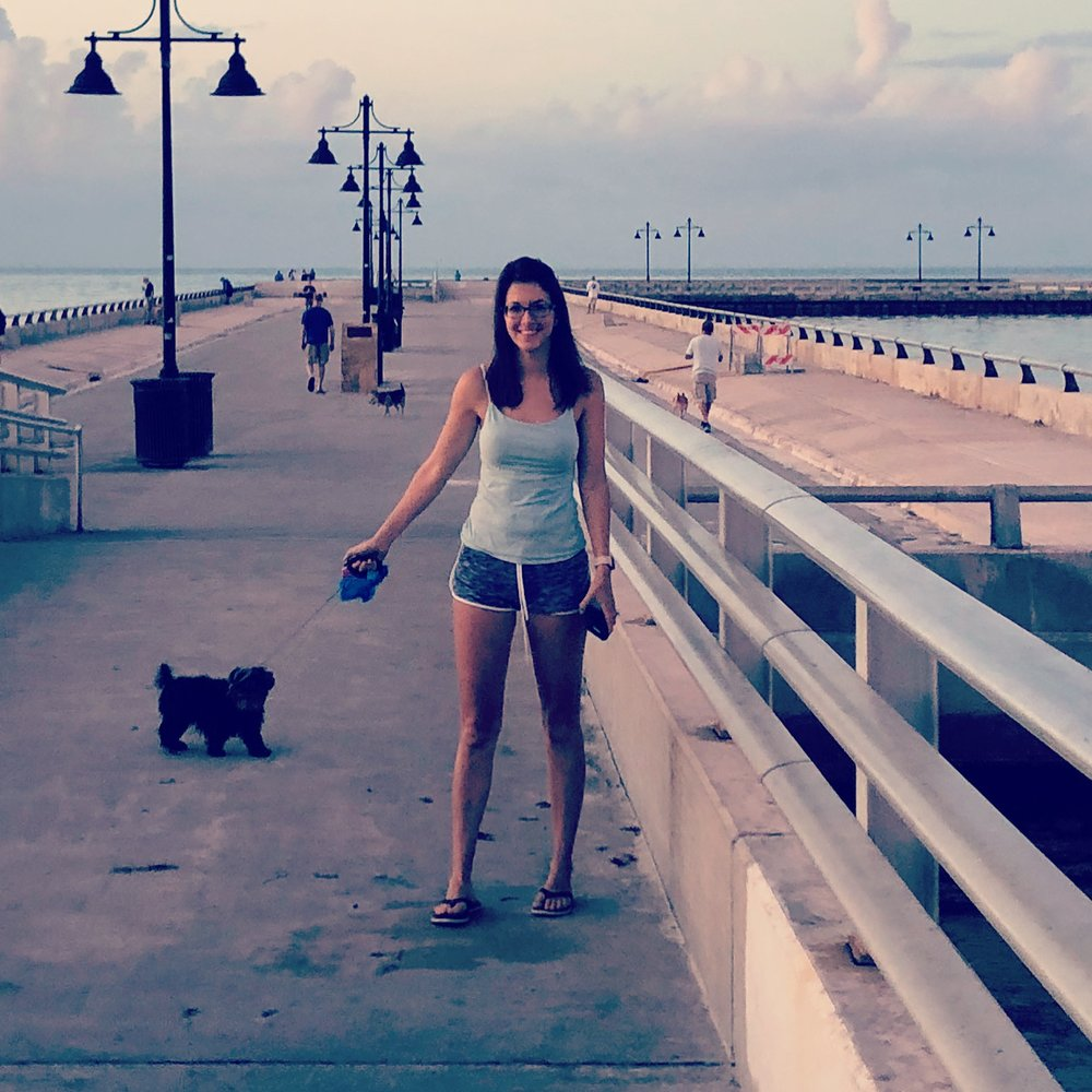 Bella and I on the White Street Pier in Key West