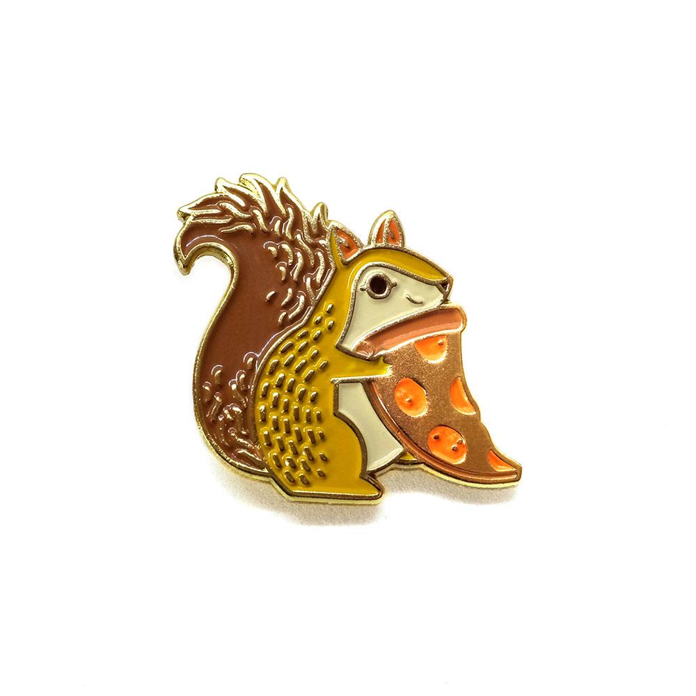 """LLS016-B : Squirrel (Brown) Soft Enamel Pin 1"""" x 1"""" $4"""