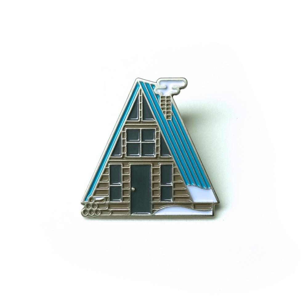 "LLS004 : A-Frame (Winter) Soft Enamel Pin 1"" x 1"" $4"