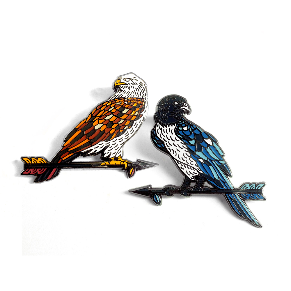LLS105-S : Birds SET Comes on custom double wide backing card $8