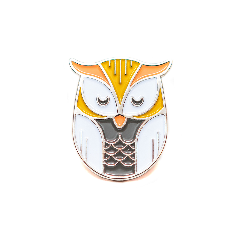 "LLS064 : Owl Soft Enamel Pin 1"" x 1"" $4"