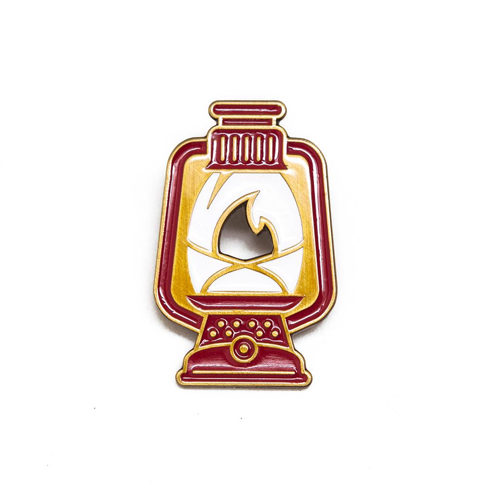 """LLS029-R : Lantern (Red) Soft enamel pin 0.8"""" x 1.25"""""""