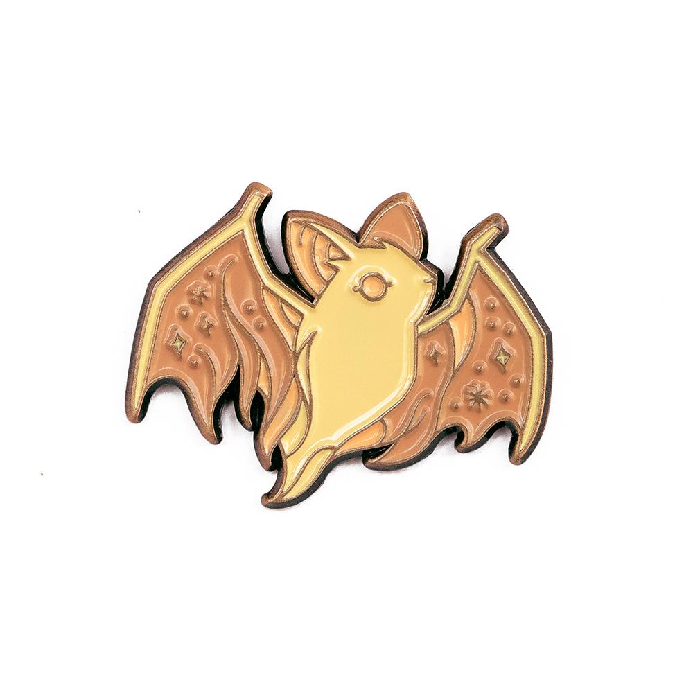 """LLS076-L : Ghost Bat (Light) Soft enamel pin 1"""" x 1"""""""