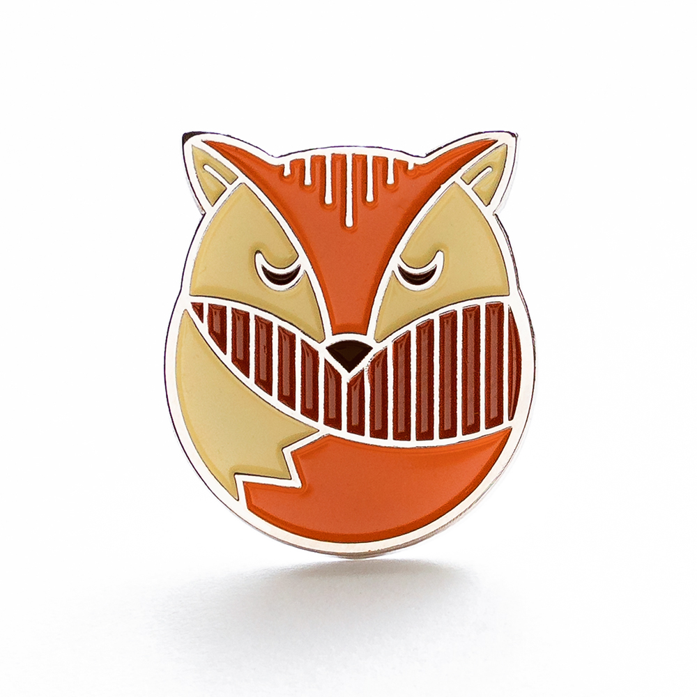 "LLS011 : Fox Soft Enamel Pin 0.9"" x 1"" $4"