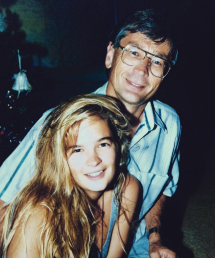 Hayley with her Dad, Dick Smith