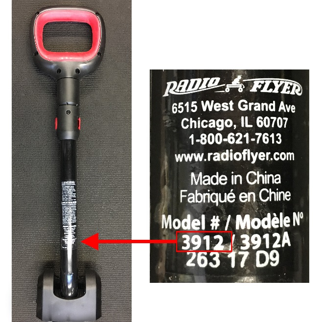 Model number 3912_3912A can be found on the handle warning label located near the pivoting joint.jpg