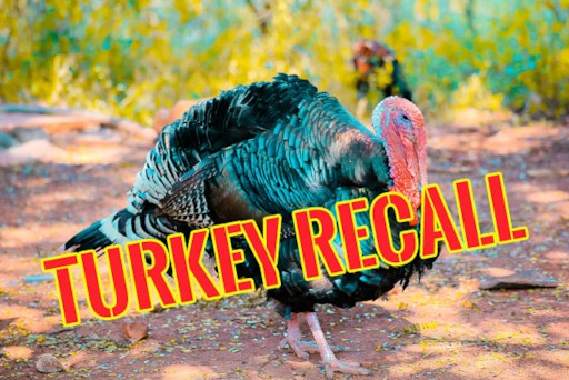 Ground turkey products are being recalled due to risk of salmonella contamination!