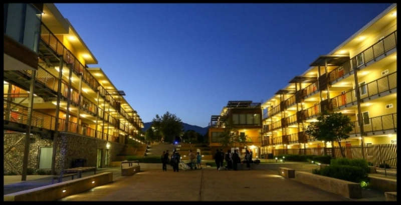 Dormitory at night