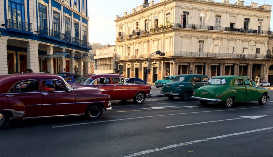 A functioning car museum in Havana-a fifties time warp that won't last much longer