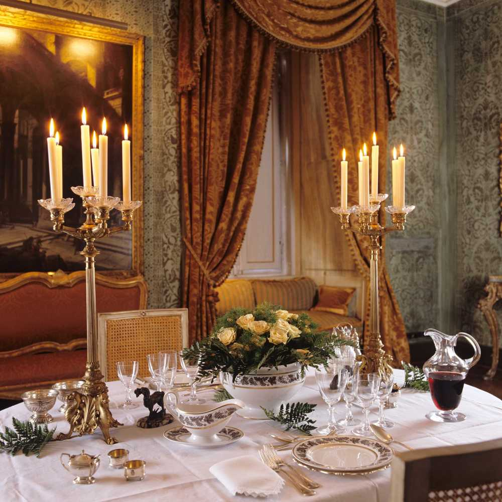 Napoleone Suite - Green Reception Room - Dinner Set-Up