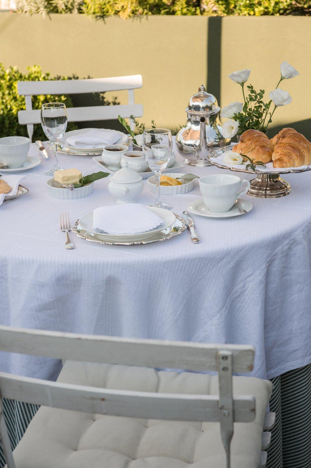 Garden Suite - breakfast on the terrace