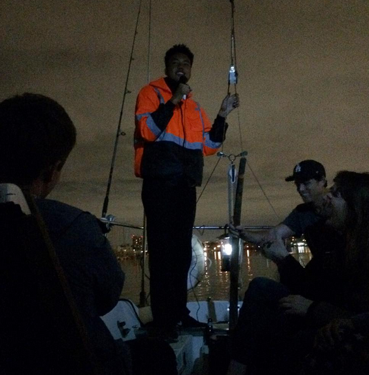 If you ever see Boat Mic pop up on The Comedy Bureau again, find a way to get on it! Tim Spencer is a gracious host and puttering around Marina del Rey is a wonderful way to spend a night. Can't imagine a better place getting high either...you're one with nature broooooo.