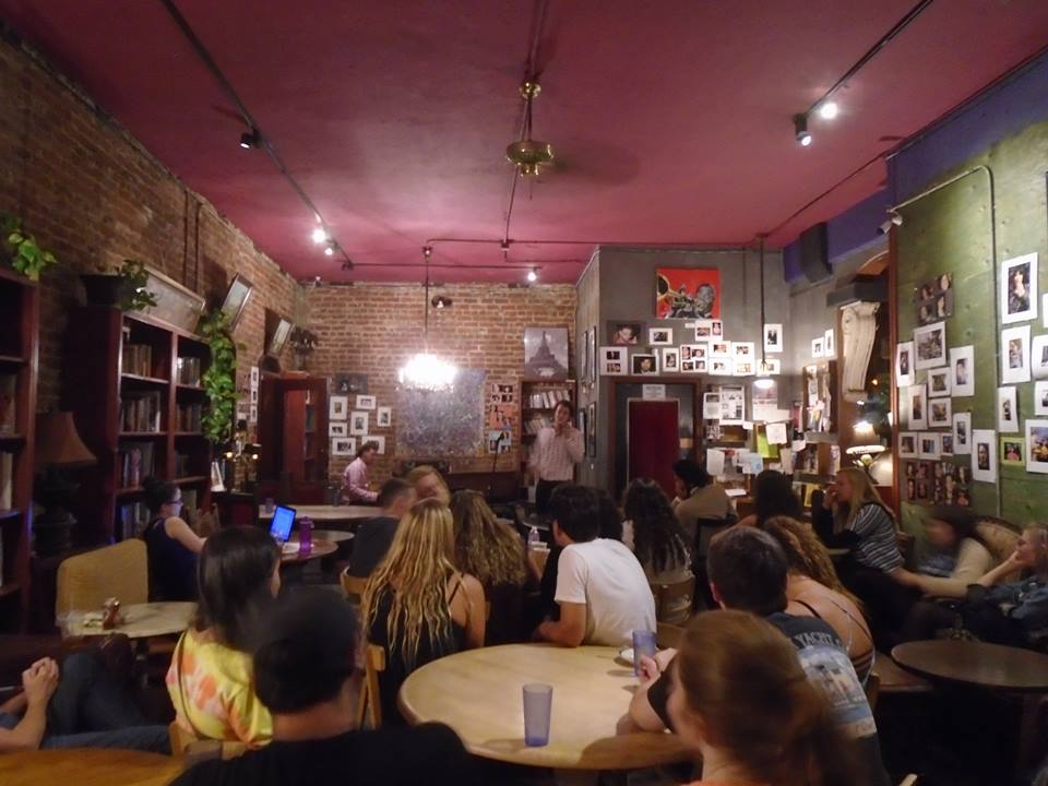 Not bad for an open mic right? The Library Coffeehouse in Long Beach is still consistently full of college students. It can be deadly when most of them are trying to study, but fantastic when they're open to a little entertainment.