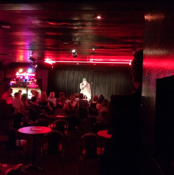 There is nothing like performing in the Original Room at The Comedy Store. It's electric. Even bombing is exhilarating. If you go up late enough, there can be a really great audience. Getting the comics in the back to crack up can feel like a triumph. So much history and when that neon star lights up my heart starts pumping. A truly intense 3 minutes.