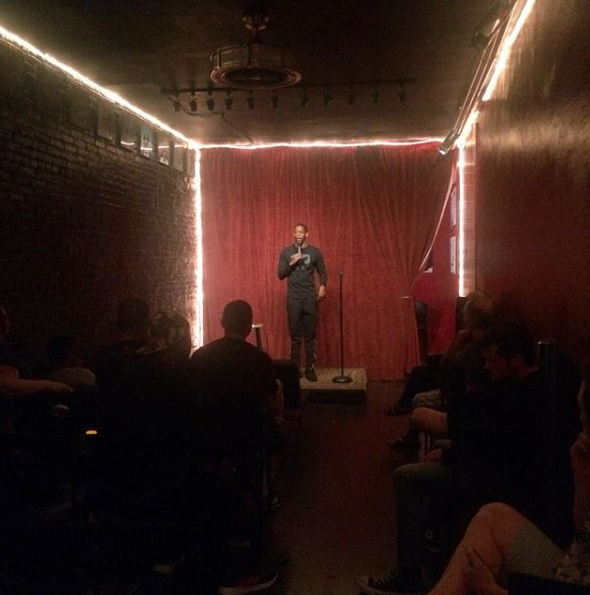 Bobbie Oliver (not pictured above) doesn't tolerate any hate speech at the Tao Comedy Studio. She's really funny and I love the space. Some of the best comedians on the scene will work out stuff here.