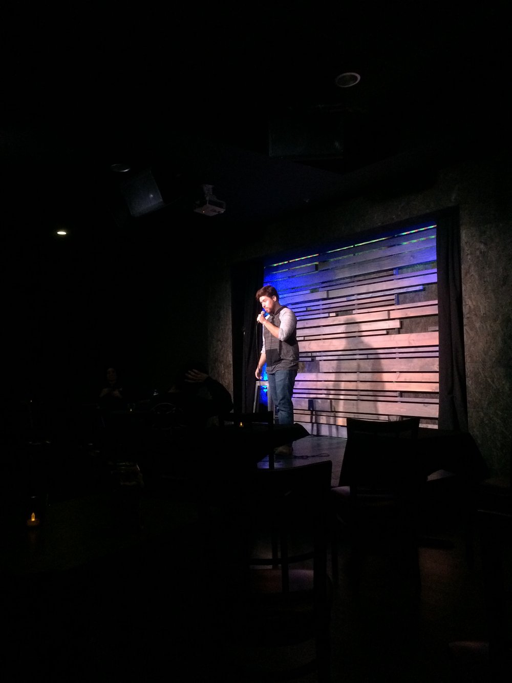 Beau performs his first set ever at The Rec Room.