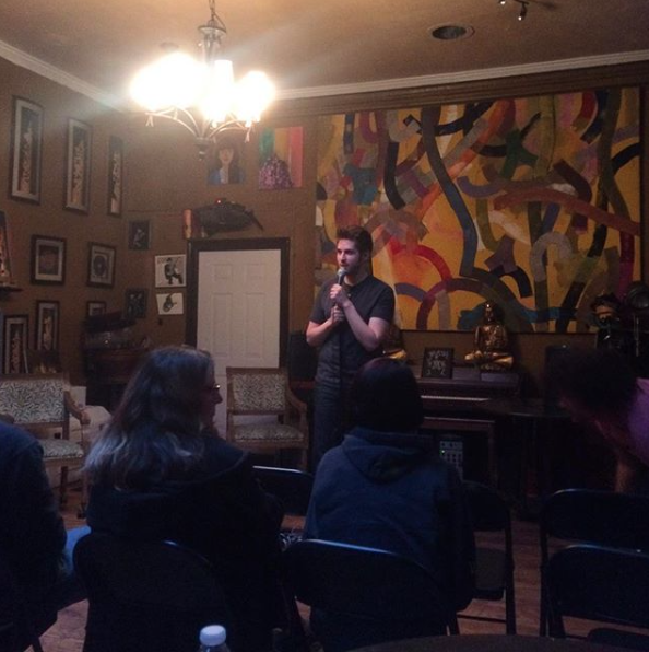 Ryan Schooley hosting at Royal Cup. One of the friendliest mics in Long Beach.