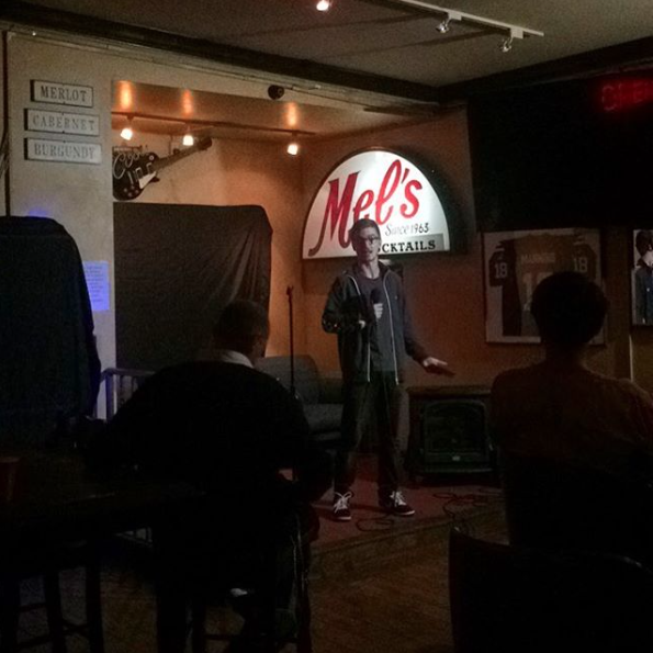 Mel's Cocktail Lounge in Santa Barbara is another winner. Totally unexpected gem. Packed with locals and they're all into the mic. Out-of-towners get priority 10 minute spots- a generous touch.
