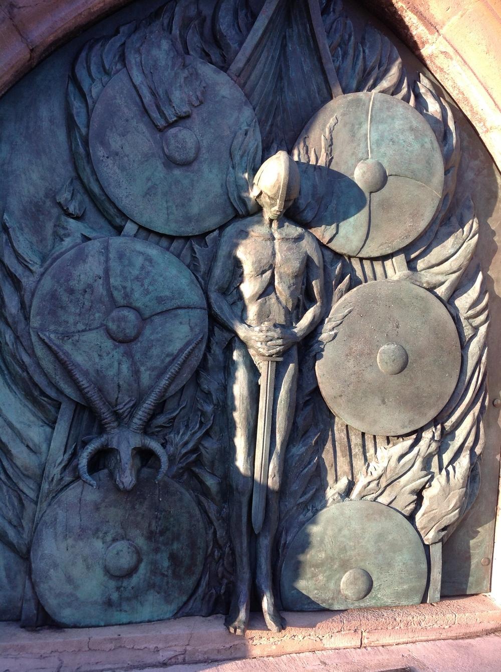Michael Sandle Sculpture, Erin Arts Centre, Isle of Man