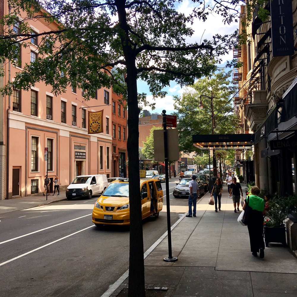 West 8th Street today, and the New York Studio School on the left.
