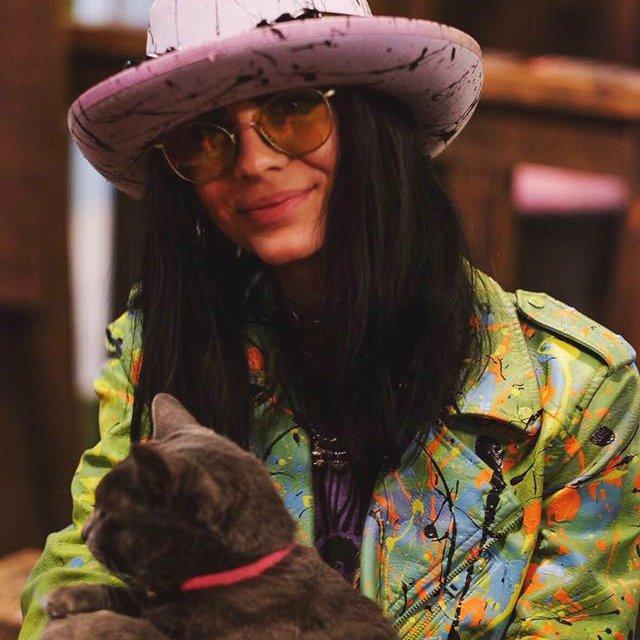 Storm Ritter & Velvet the Studio Cat