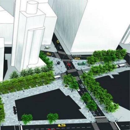 Astor Place. Image courtesy of WXY Associates