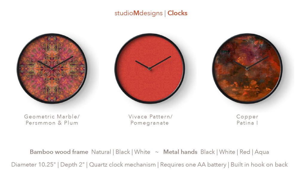 studioMdesigns clocks