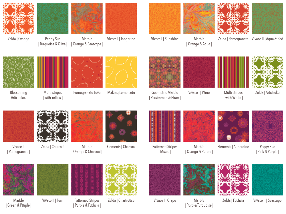 STUDIO milledisegni - swatches for decorative papers