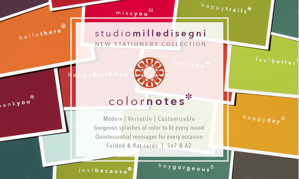 studio milledisegni ColorNotes stationery collection