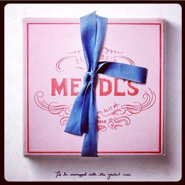 Beautiful package from the most inspirational universe! #mendls from #thegrandbudapesthotel #inspiration