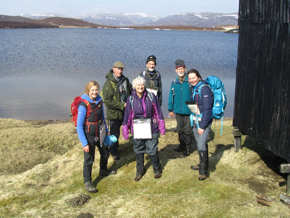 While we await your photographs for 2017, here are some of your leaders, helpers & starters undertaking a training session in early may. emma o'shea ( R. front) who you will now have met was giving the training on navigation, hse and how to lead in fog and misty conditions, sadly we had to do a great deal of imagining on the latter as the weather insisted on being brilliant! sandy Mitchell (2nd left) proves that you are never to experienced to learn more. the others in the picture are all taking either new or enhanced roles; lisa mcmahon ( 1st Left), carolE nicolL (centre front), john burrows (centre back) & douglasburke (2nd right). 2nd June 2017