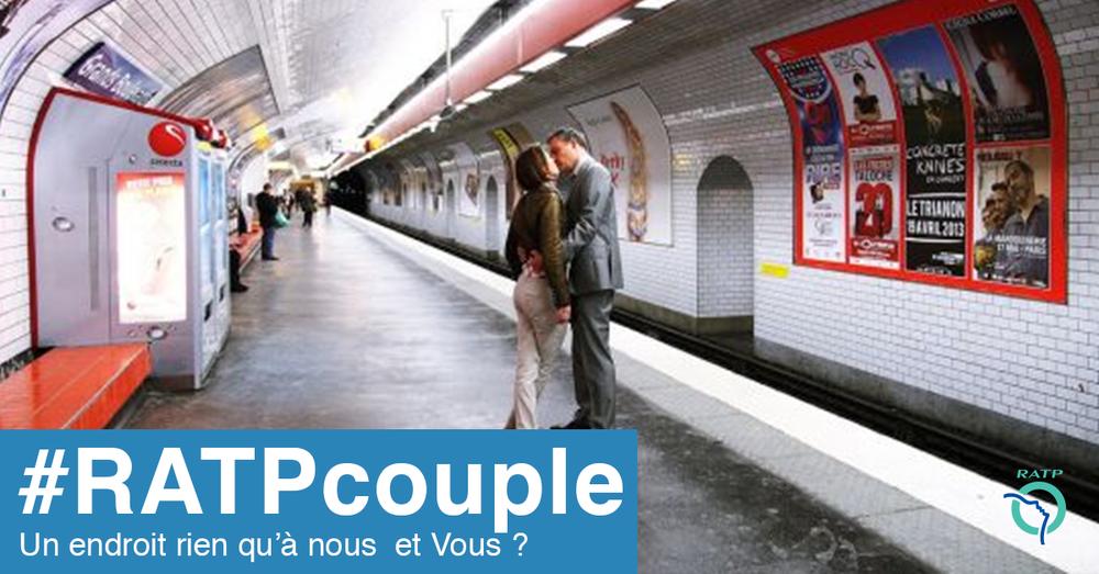 Campagne RATP   le couple d'amoureux
