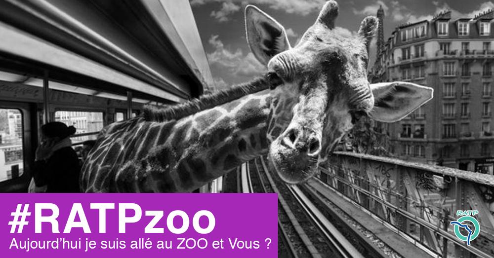 Campagne RATP   aller au zoo