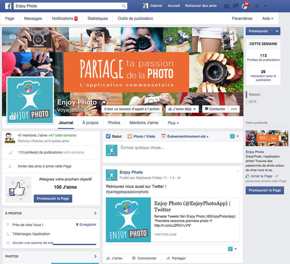 Page Facebook   animation de la page