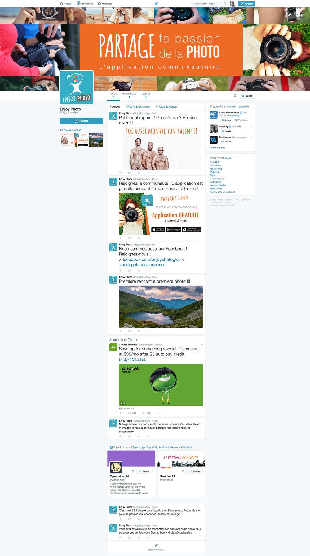 Page de Twitter   animation de la page