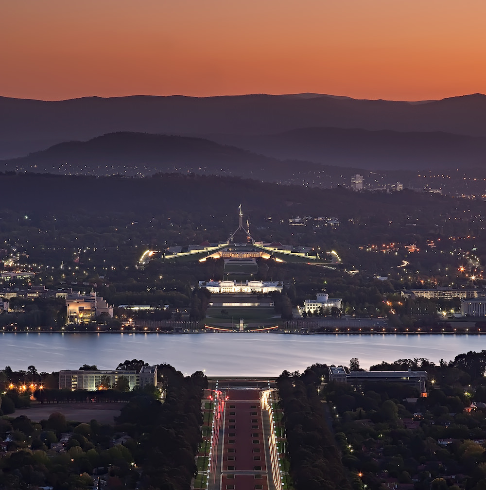 Parliament House, Canberra. Photo:  Sam Ilić .