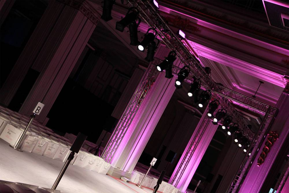 Catwalk Fashion Show Lighting Hire Liverpool