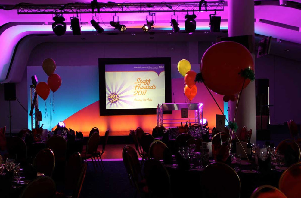 Awards Ceremony Production, Staging and AV Hire at Aintree Racecourse in Liverpool