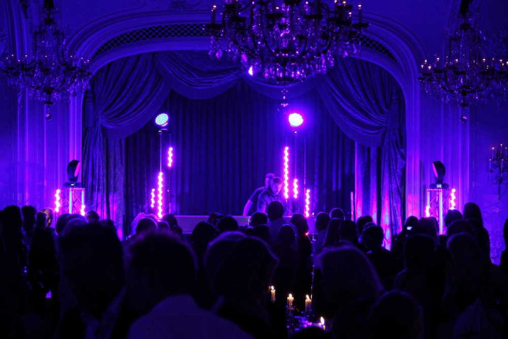 Stage Lighting for a Gala Dinner in The Lancaster Ballroom at The Savoy Hotel London