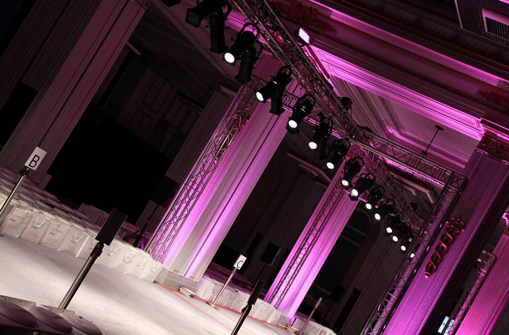 Catwalk and lighting for a fashion show in Liverpool