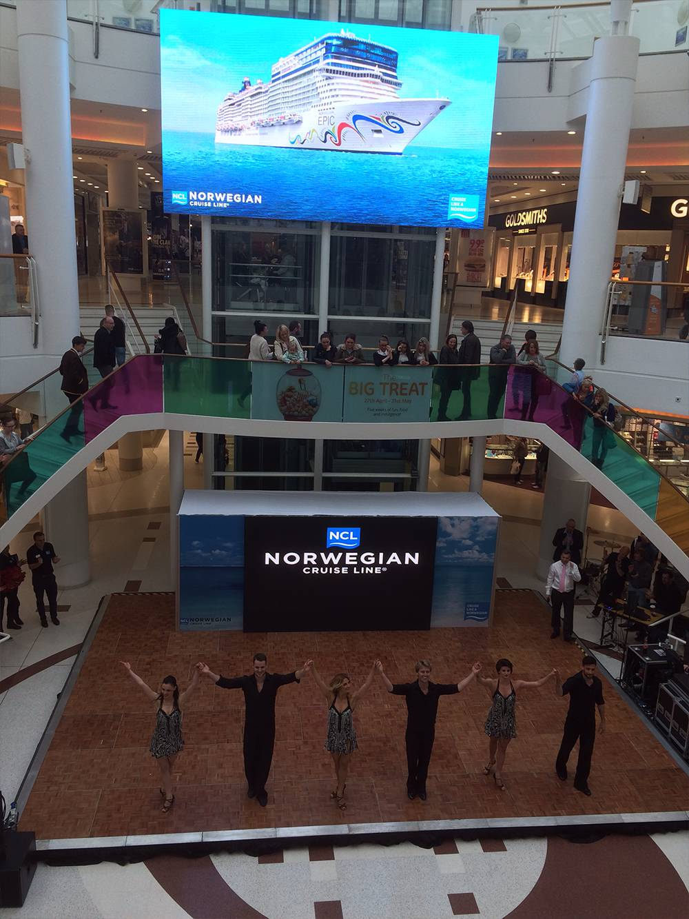 Shopping Centre Exhibition Roadshow UK Audio Visual Production & Staging