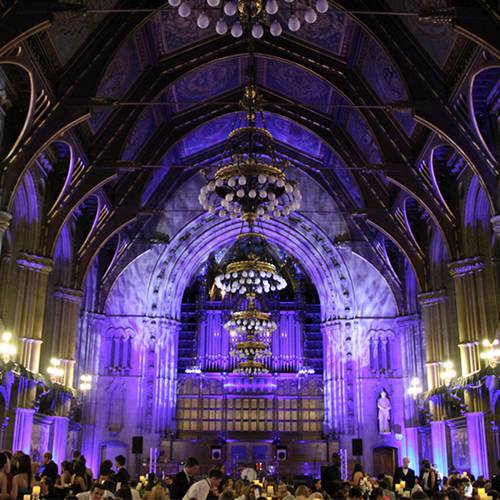 Stagetex often supply audio visual support for conferences and events at Manchester Town Hall.