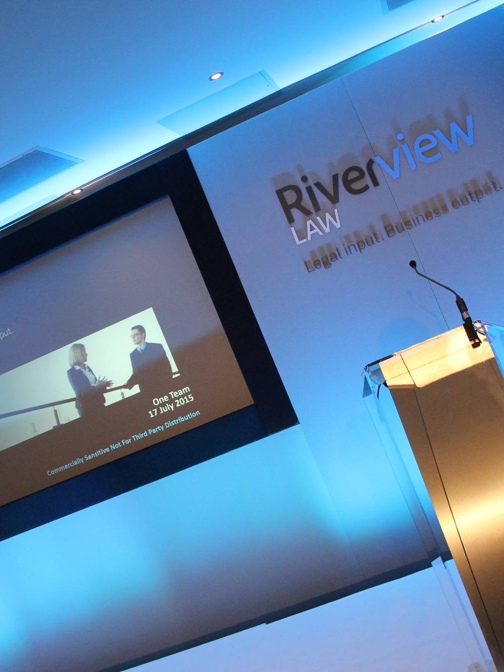 We offer conference stage sets, branding and lecterns alongside our AV hire services in Manchester.