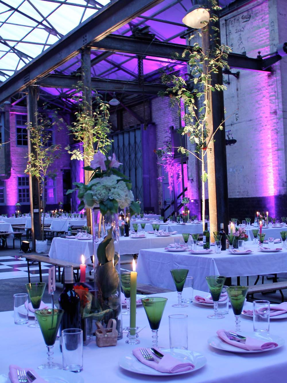 Camp & Furnace Liverpool with lighting for an awards ceremony.