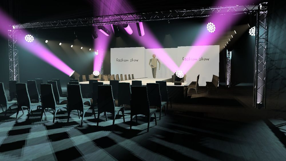 Catwalk Hire Manchester Design including Catwalk and Lighting