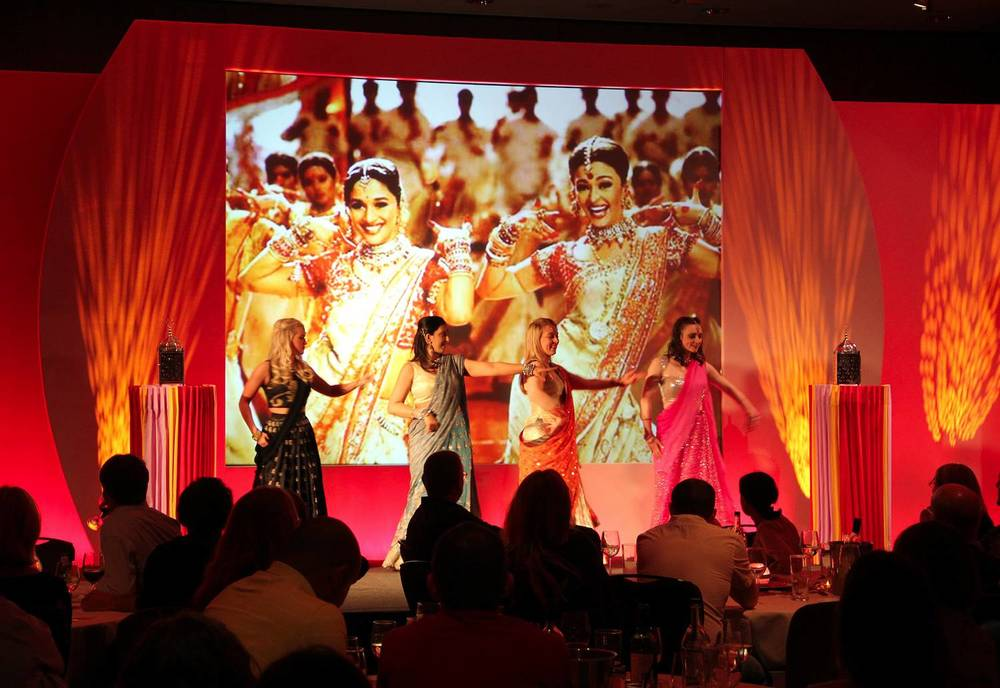 Themed Conference Stage Set and Audio Visual at Hilton Liverpool