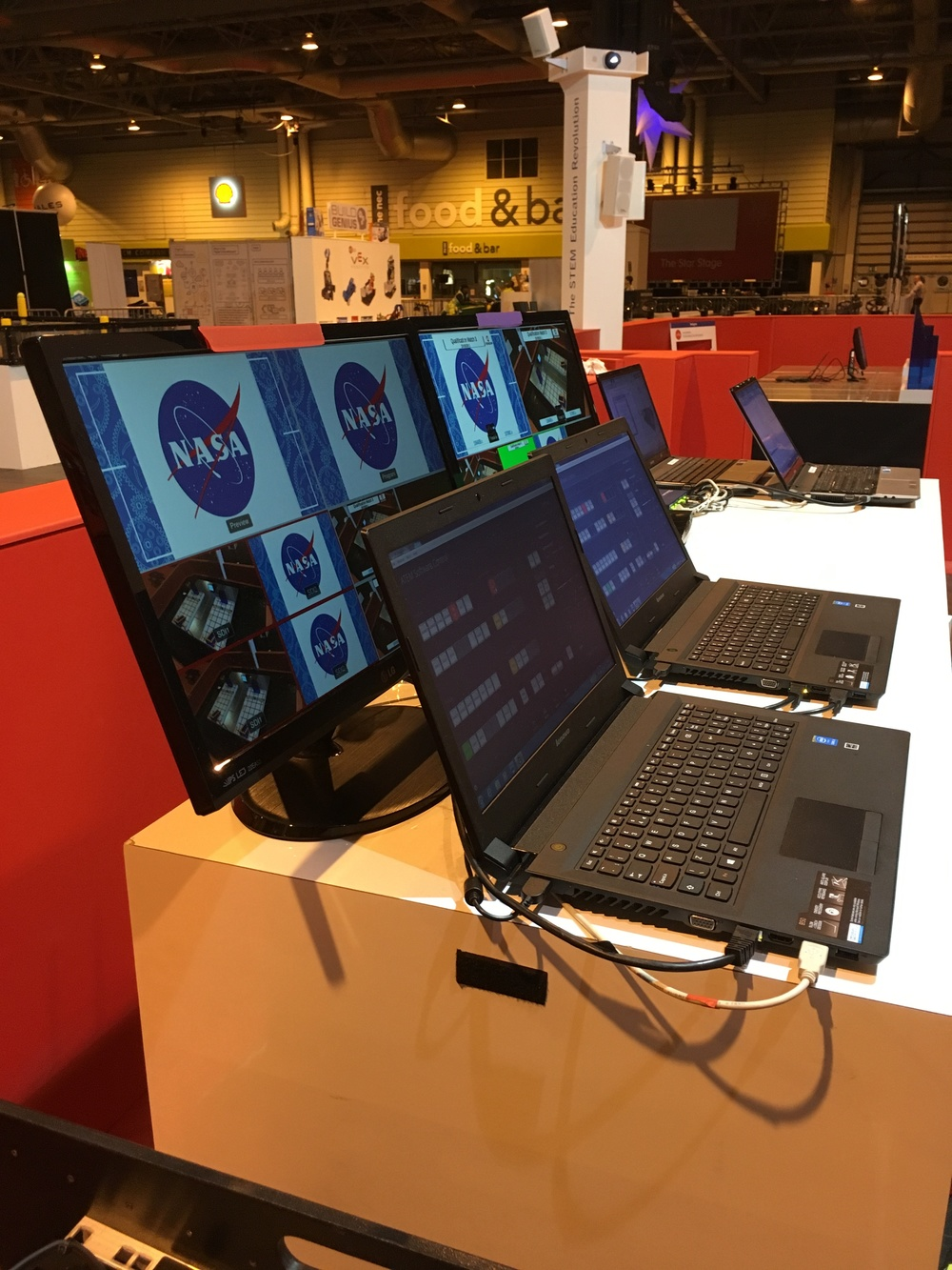 Laptop and AV Hire for an exhibition stand at The NEC