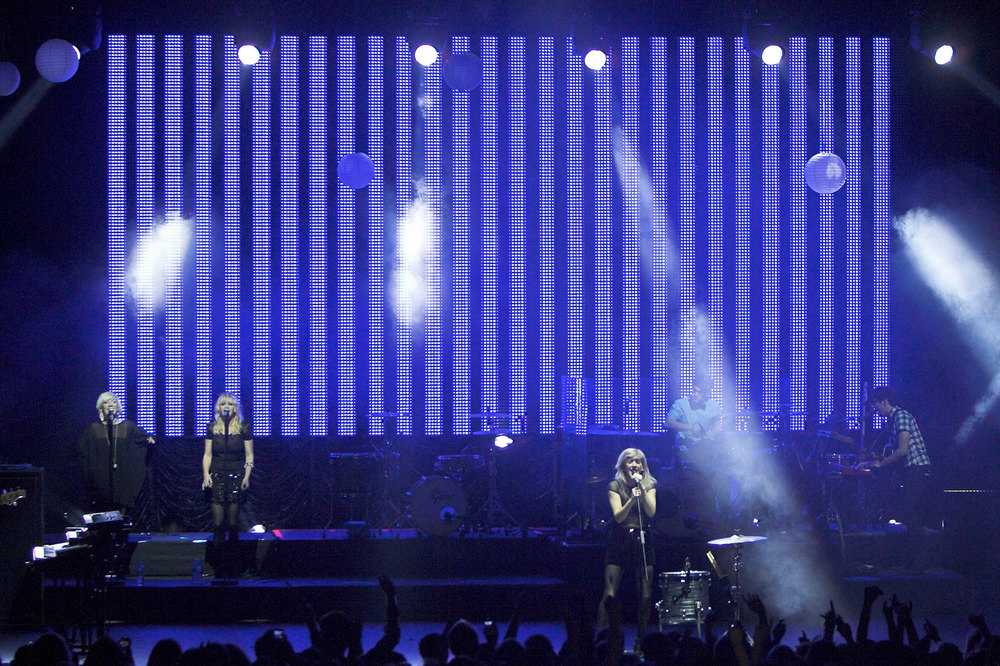 Above: Our PixLED F30 LED Video Wall on tour with Ellie Goulding
